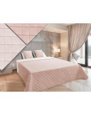 narzuta na łóżko w kolorze pudrowego różu